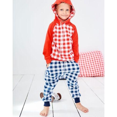 Baby Vichy kék kockás nadrág