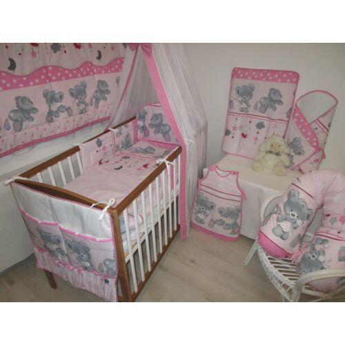 Babaágynemű Freddi teddy rózsaszín 4 részes