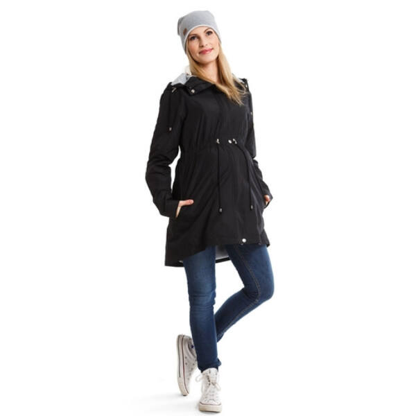 Parka fekete színű kabát