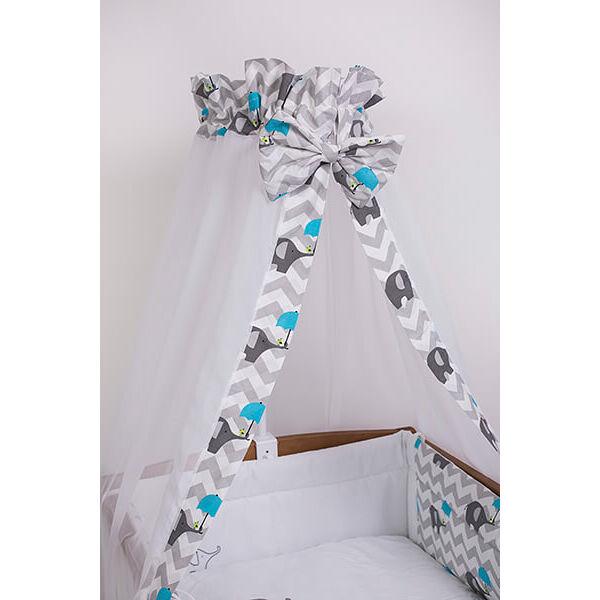 Baldachin Elefánt kék esernyővel