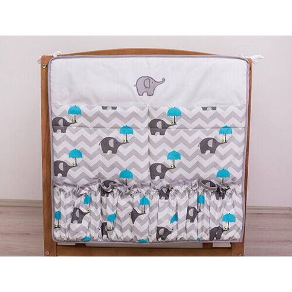 Zsebes tároló Elefánt kék esernyővel