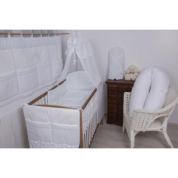 Babaágynemű Fehér madeira-házikós maci 4 részes