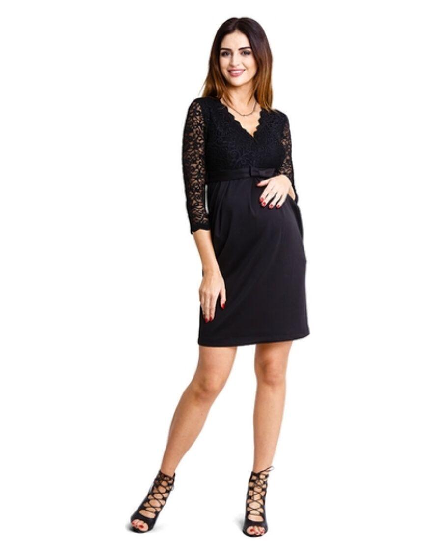 f47d744cb1 Hypnotic fekete ruha - Kismama elegáns darabok