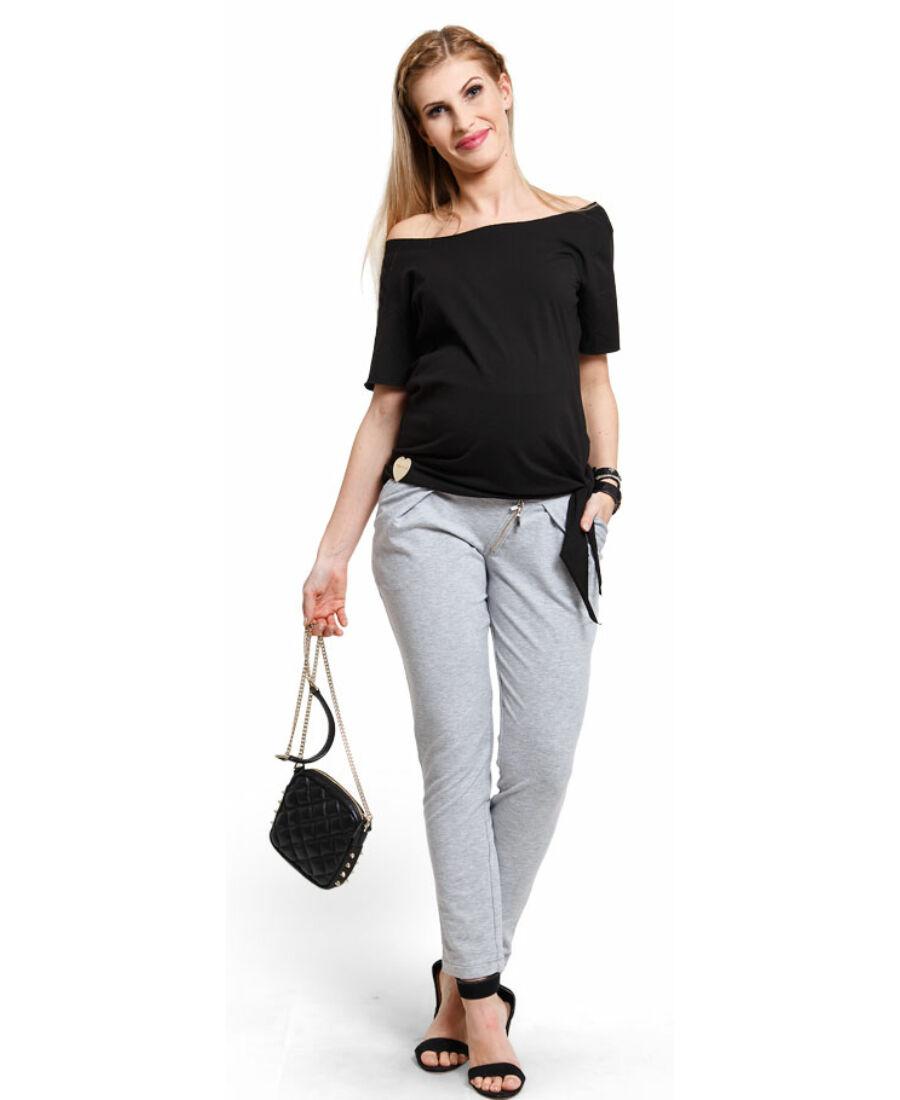 Melody fekete felső - Kismama póló bcde77b8d5