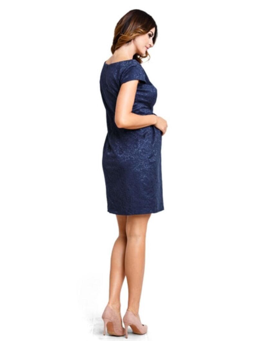 777206378d Woodrose sötétkék ruha - Kismama elegáns darabok