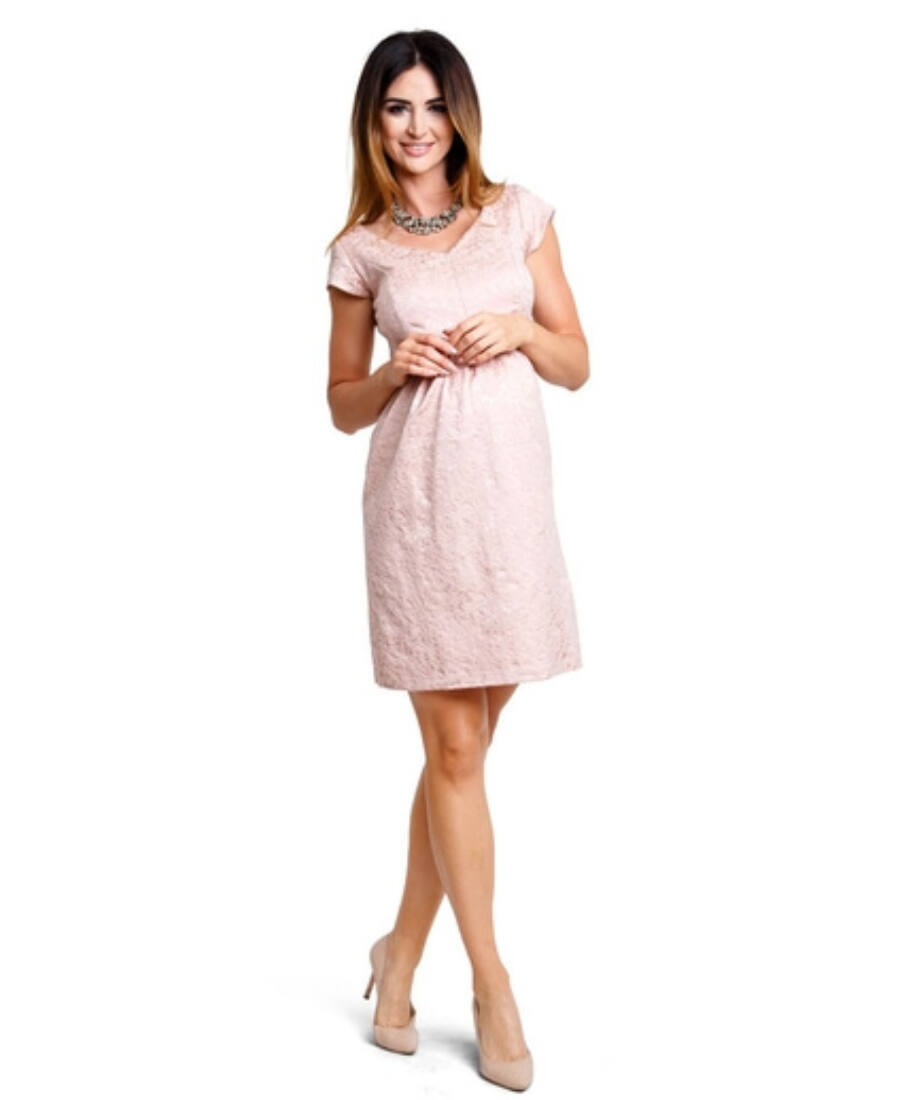7139dd45f5 Woodrose rózsaszín ruha - Kismama elegáns darabok
