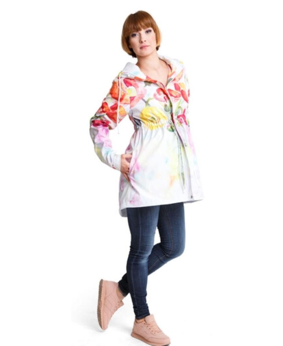 8d39652784 Parka virágmintás kabát - Kabátok