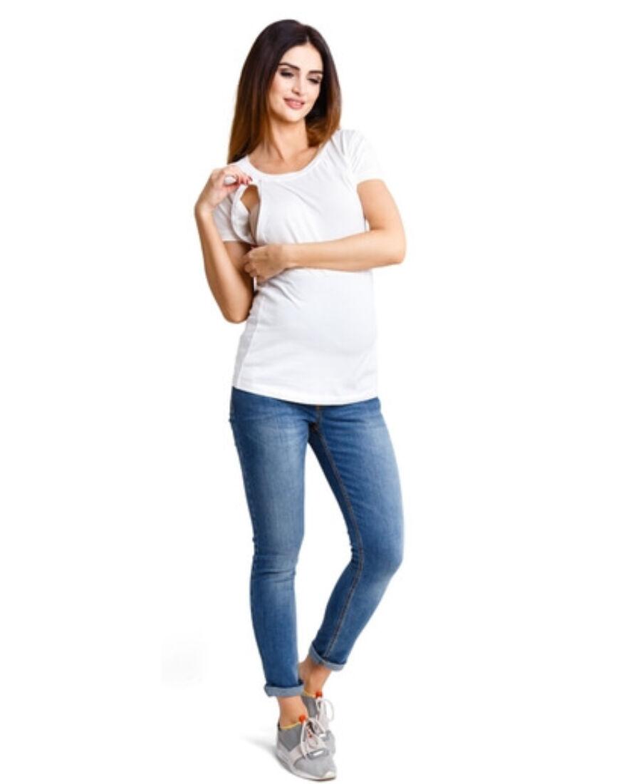 Milka krémszínű felső - Kismama póló 0a2bb142fd
