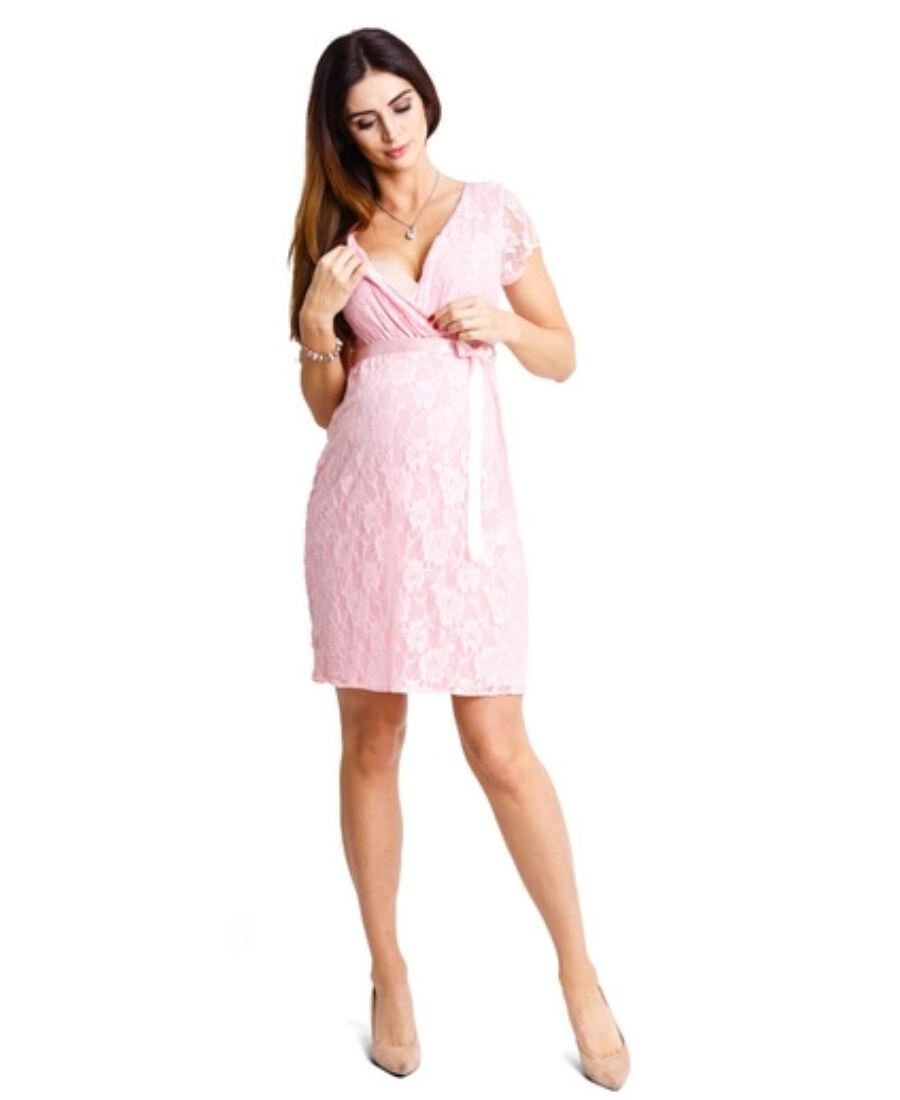 2588d0bbb4 Lovely púder csipkés ruha - Kismama elegáns darabok