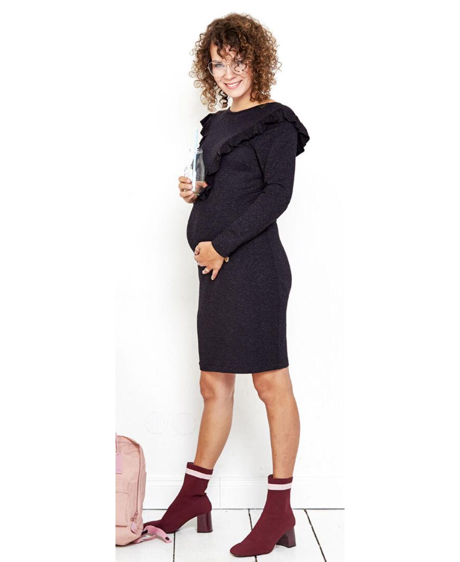 7744767206 Lulla fekete ruha - Kismama hétköznapi viselet