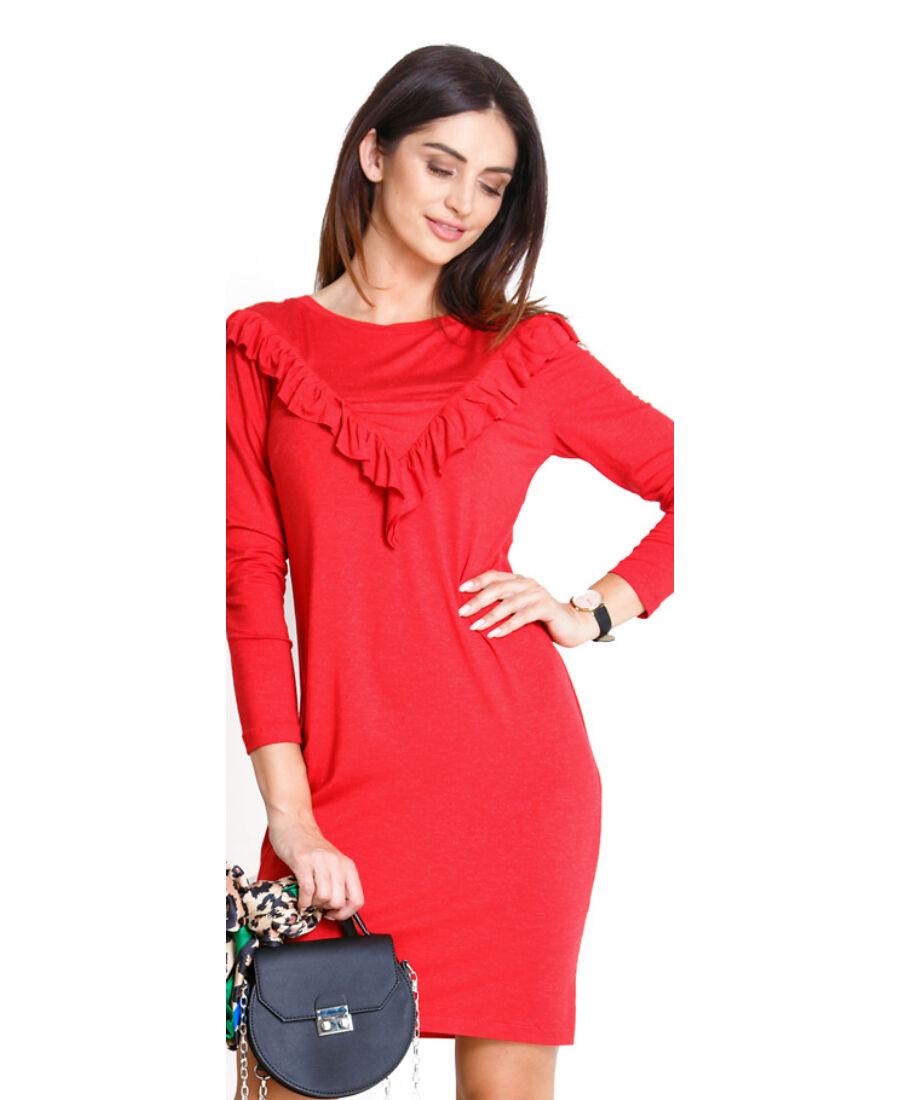cf3e724f6a Lulla piros ruha - Kismama hétköznapi viselet