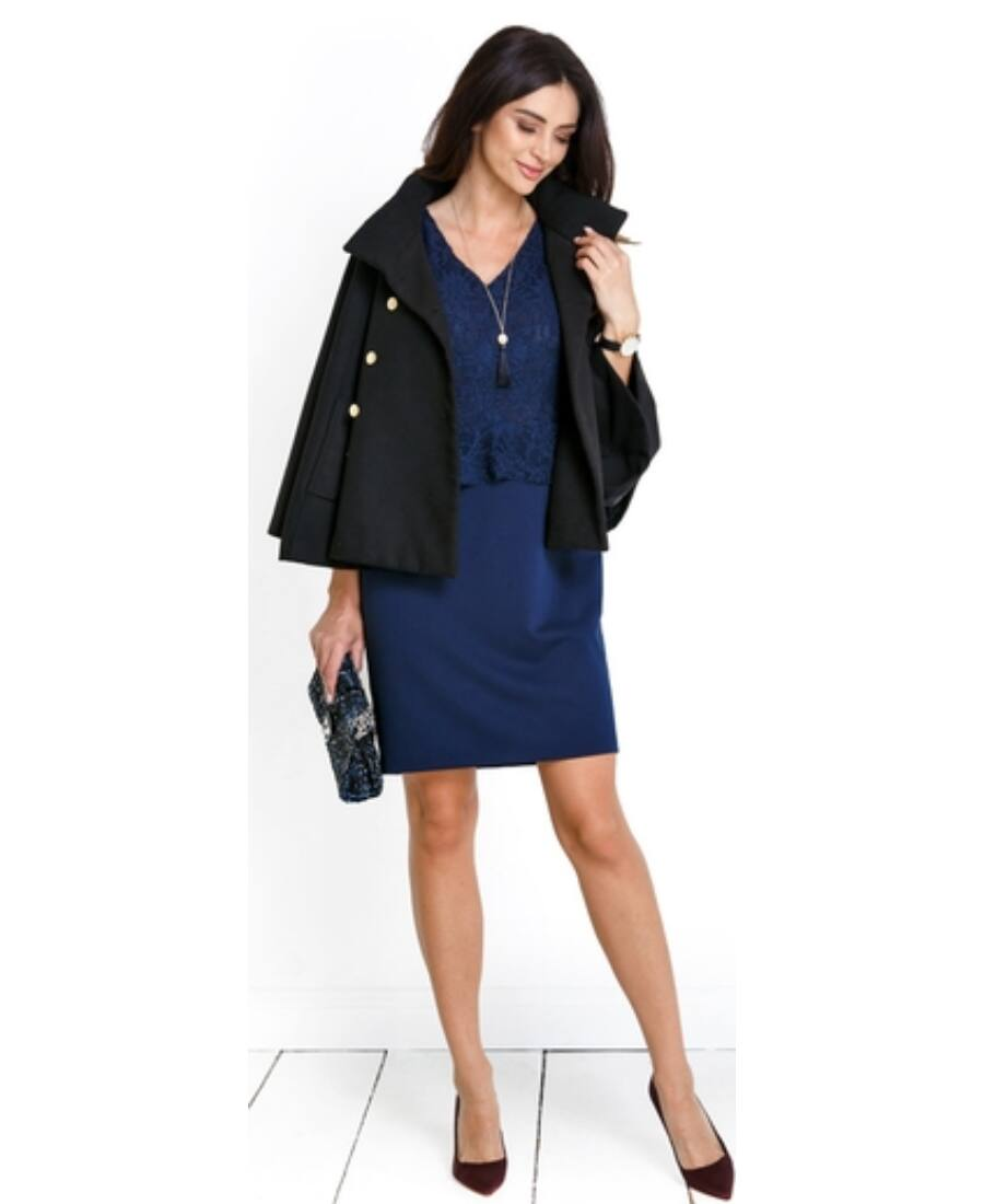 728673938f Bella kék ruha - Kismama elegáns darabok